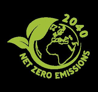 2040 net zero emissions logo